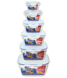 Lock & Lock: 6-Piece Set Containers Zen (HSM8470S6)