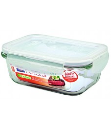 Lock & Lock: Container Boroseal Rectangular 380 ml (LLG422A)