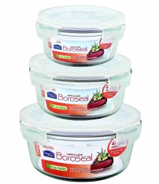 Lock & Lock: Set Boroseal Containers Round (LLG861AS3)