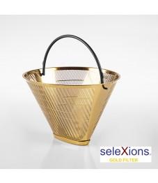 Selexions: GF4M Gold Kaffee-Dauerfilter (Filter Nr. 4) aus Ganzmetall