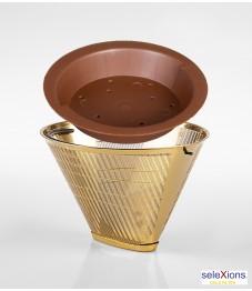 Selexions: GF4M Gold Kaffee-Dauerfilter (Filter Nr. 4) Ganzmetall + Tröpfli