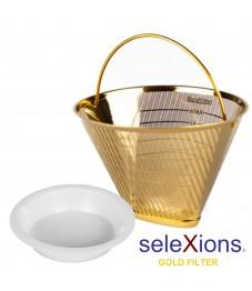 Selexions: GF4MB Gold Kaffee-Dauerfilter (Filter Nr. 4) Ganzmetall + Tröpfli