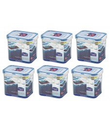 Lock & Lock: 6 x Container Rectangular 850 ml (HPL808/6)