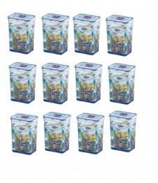 Lock & Lock: 12 x Container Rectangular 1.3 l (HPL809/12)