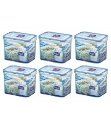 Lock & Lock: 6 x Container Rectangular 1.0 l (HPL812/6)