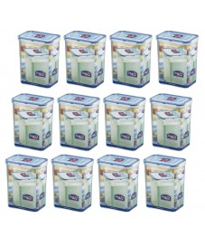 Lock & Lock: 12 x Container Rectangular 1.8 l (HPL813/12)