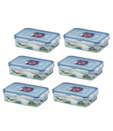 Lock & Lock: 6 x Container Rectangular 550 ml (HPL815/6)