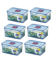 Lock & Lock: 6 x Container Rectangular 1.1 l (HPL815D/6)