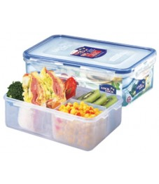 Lock & Lock: Container Rectangular with 3 Insets 1.0 l (HPL817C-B)