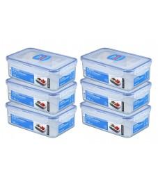 LocknLock: 6 x Multi-Use Food-Storage Box with Drain Grate 1.0 l (HPL817TS6)