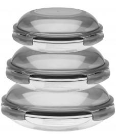 Lock & Lock: Boroseal Set, rund gewölbt grauer deckel (LLG885GS3)