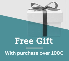 Free gift with purchase over 100€